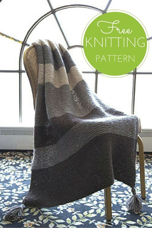 Easy Knit Striped Garter Throw