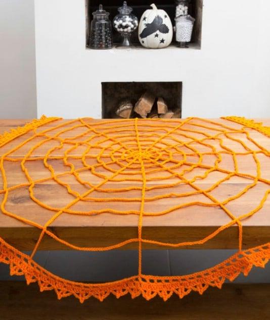 Crochet Spider Web Table Topper