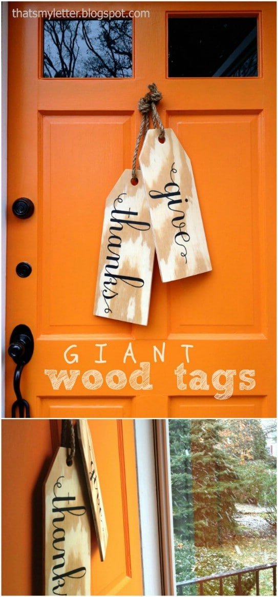 DIY Wood Tag Hangers