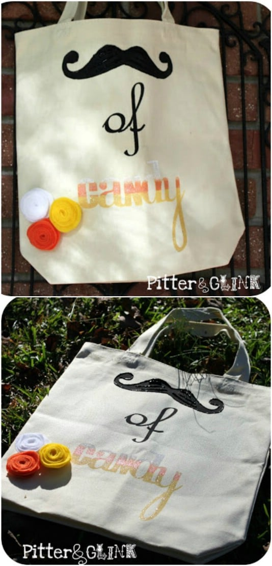 Easy DIY Stenciled Trick-Or-Treat Bags