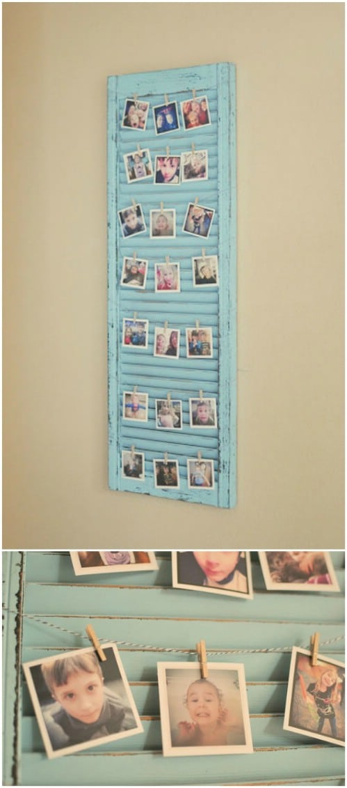 Upcycled Shutter Picture Display