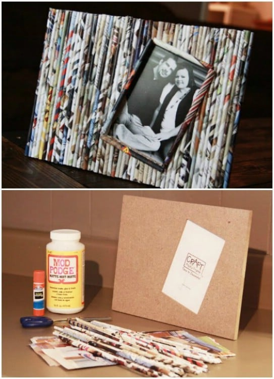 Easy DIY Paper Reed Picture Frame