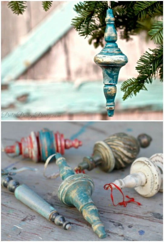 Reclaimed Table Leg Ornaments