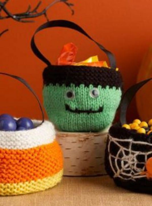 Spooky Knit Treat Bags