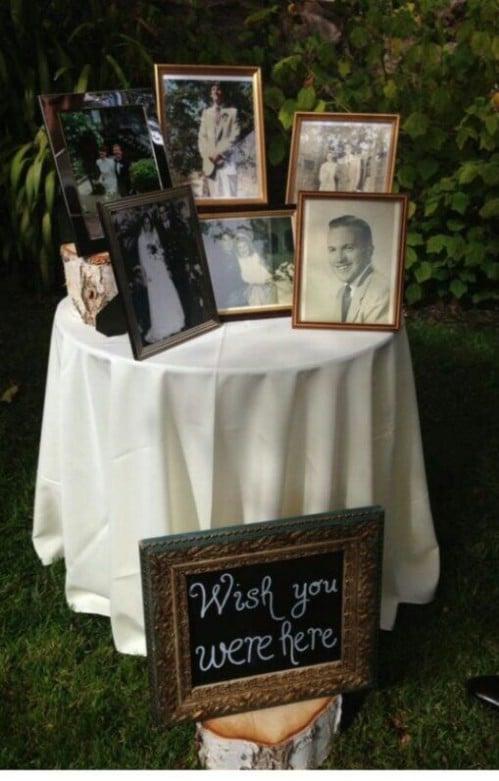 In Memory Photo Display
