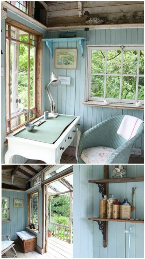 Or do both your interior and your exterior in teal.