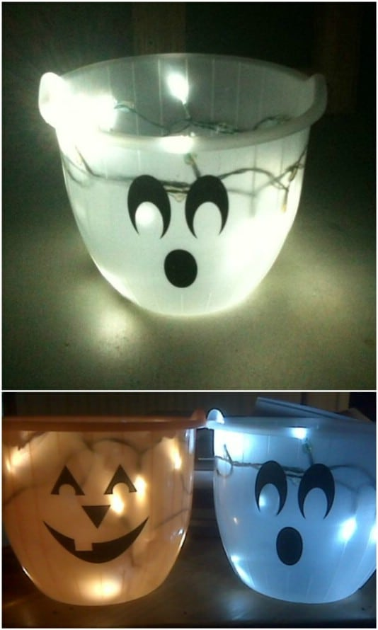 DIY Glowing Trick-Or-Treat Bag