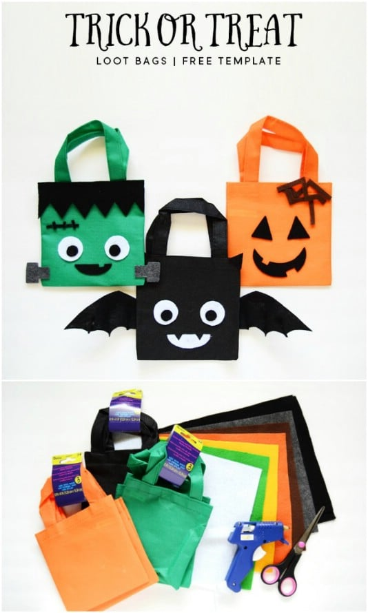 Easy Mini Felt Trick-Or-Treat Bags
