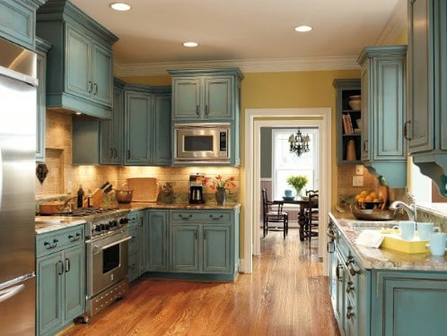 Give your kitchen a teal makeover.