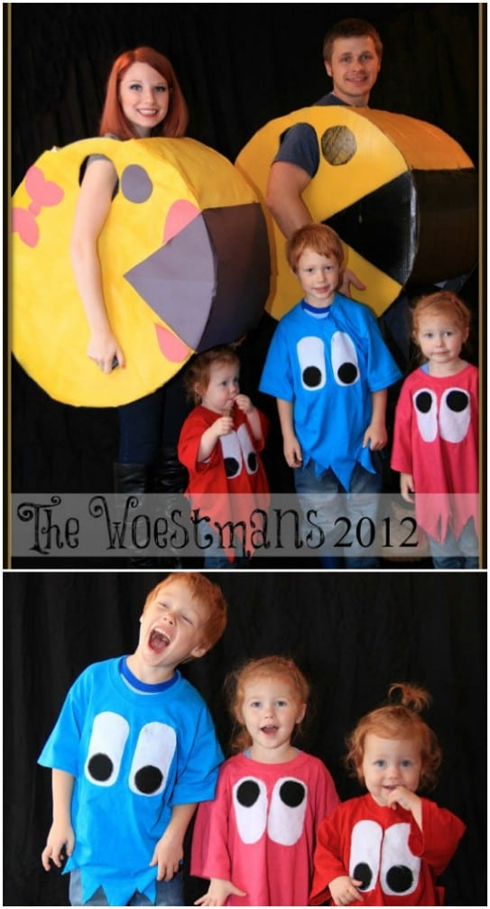 Homemade PacMan Family Costumes