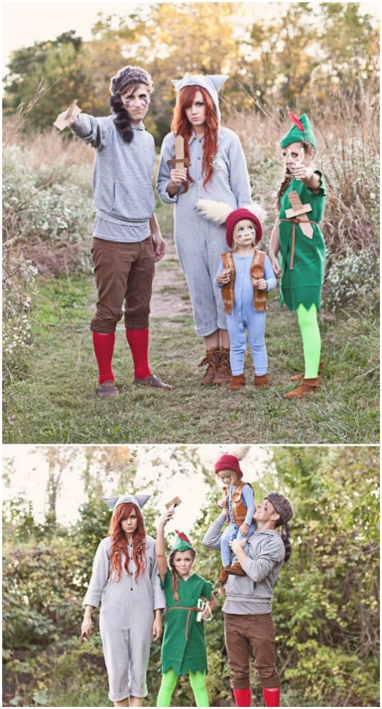 DIY Peter Pan And The Lost Boys Costumes