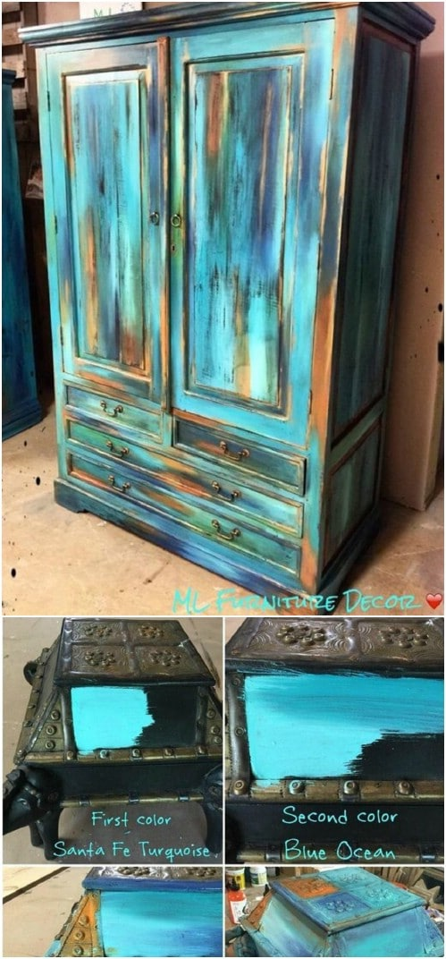 Use the Bermuda blending paint technique to create some startling contrasts with teal.