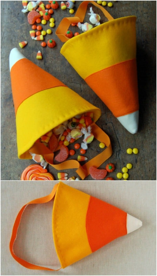 Easy DIY Candy Corn Bag