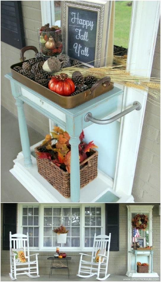 DIY Front Porch Chalkboard