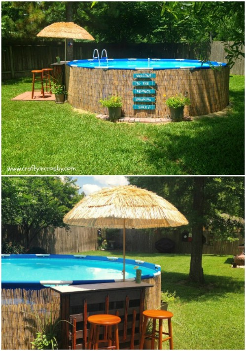 swim up pool bar designs diy