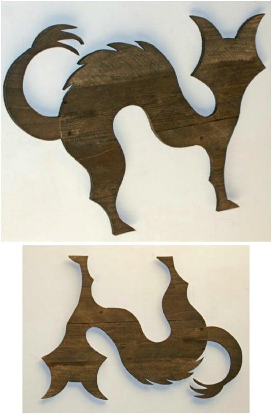 Rustic Reclaimed Wood Halloween Cat - 25 Fantastic Reclaimed Wood Halloween Decorations For Your Home And Garden