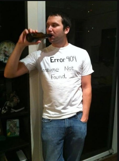Lazy Man's Error Costume