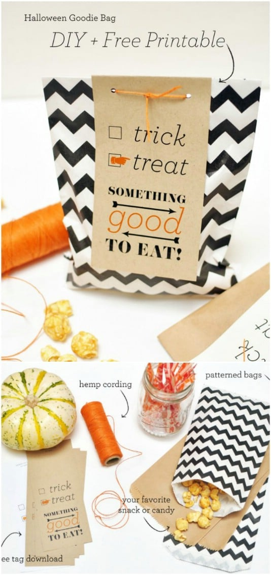 Easy DIY Zig Zag Halloween Candy Bag