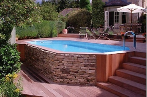 Enclose the Pool with Some Lovely Stonework