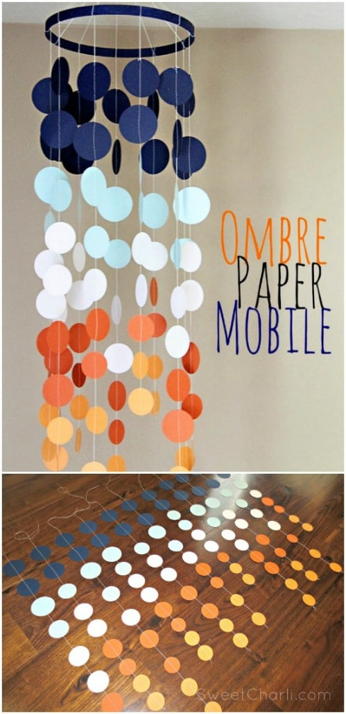 Make an ombre paper mobile.