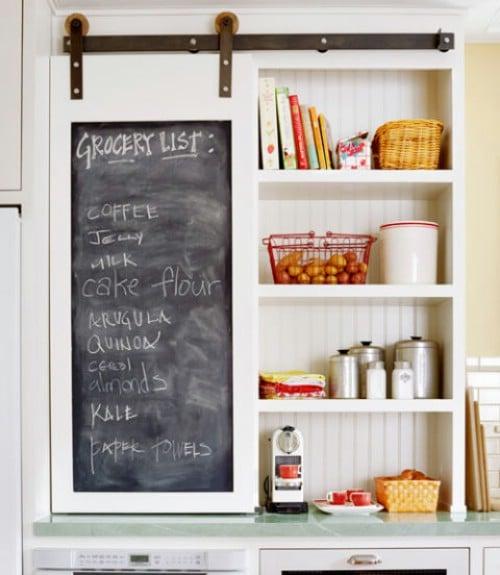 Chalkboard Barn Door Cabinet