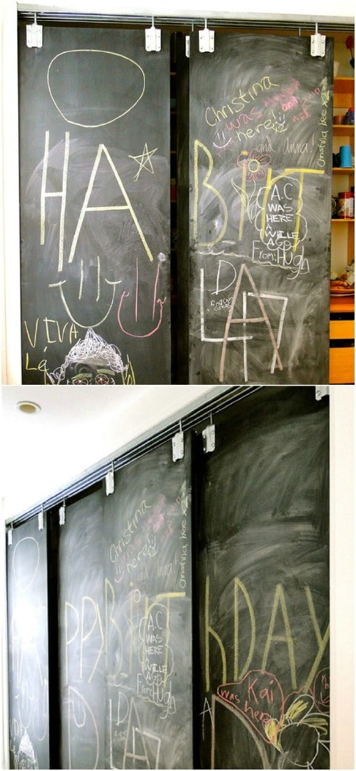 Sliding Chalkboard Doors