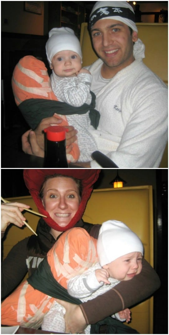 Family Sushi Roll Costume