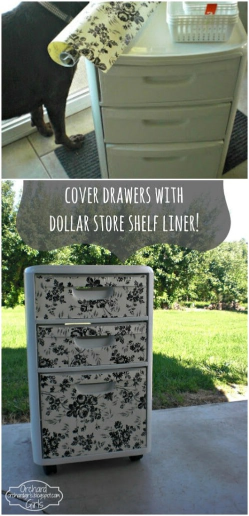 Here is a quick and easy makeover project for your boring set of plastic bins.