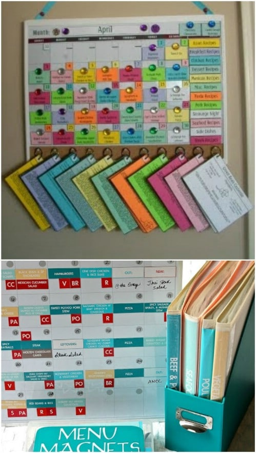 Create a magnetic menu board.