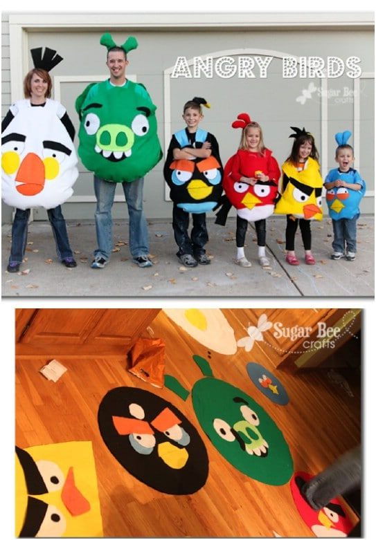 Family Of Angry Birds Costumes