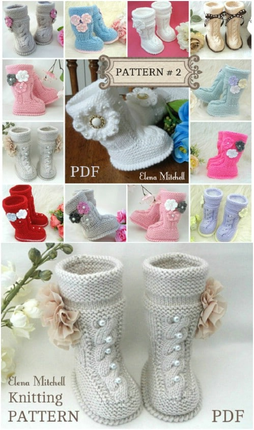 Adorable Hand Knit Baby Booties