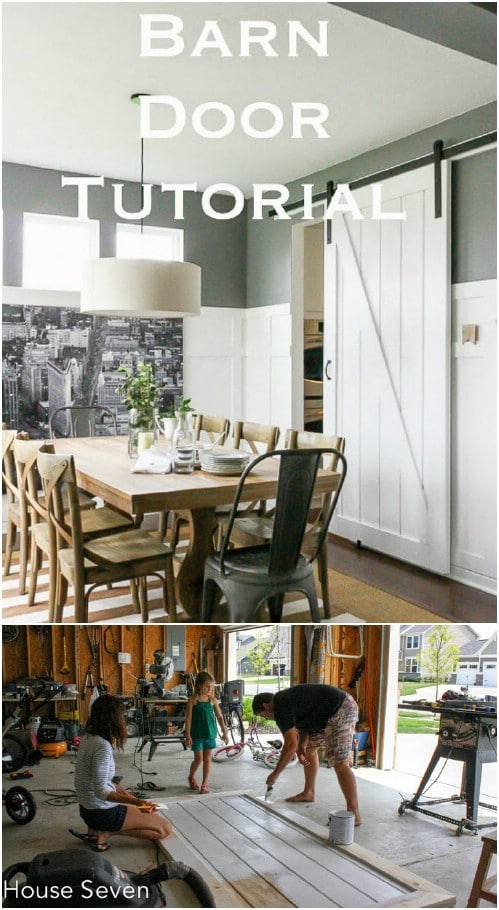 Kitchen Barn Door Divider Project