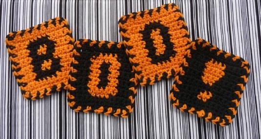 Knit Boo Coasters