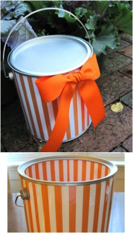 Upcycled Paint Can Halloween Treat Bucket
