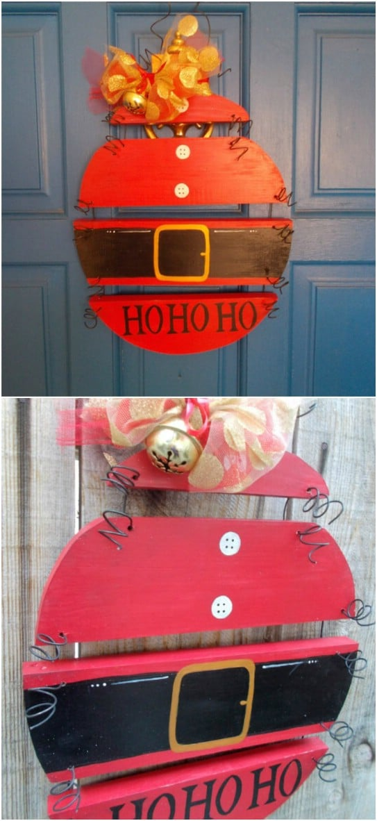 Reclaimed Wood Ho Ho Ho Sign
