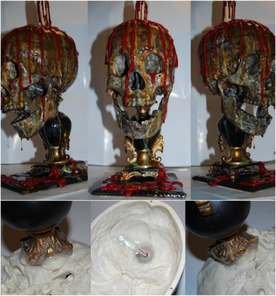 DIY Bloody Skull Lamp