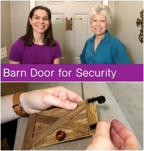 Make a Miniature Sliding Barn Door for Your Peephole