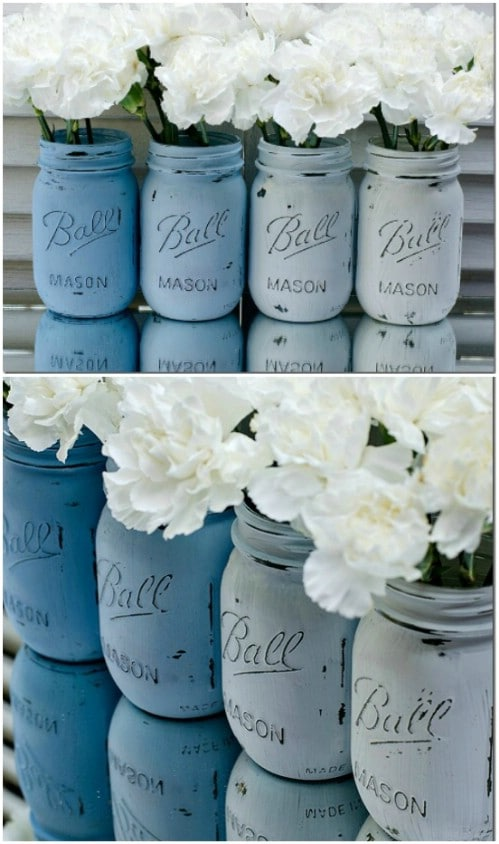 Make ombre mason jars.