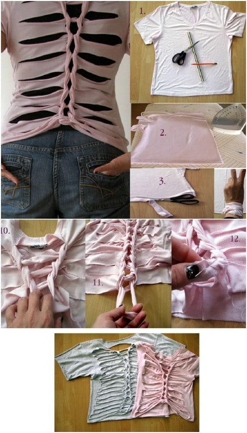 Create a pattern like a ribcage.