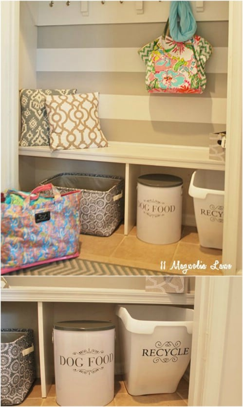 Quick And Easy DIY Recycling Bin - 20 DIY Home Recycling Bins That Help You Organize Your Recyclables
