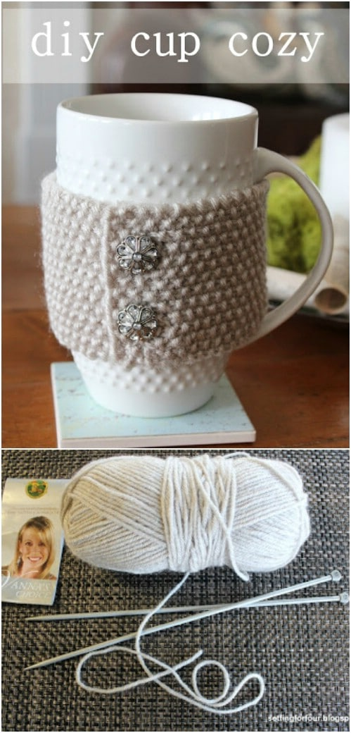 DIY Knit Cup Cozy