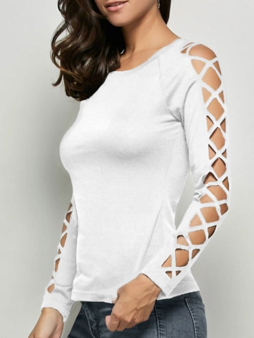 Make a cool crisscross pattern on your sleeves.