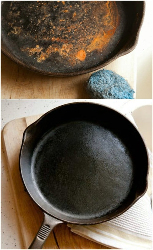 Rusty Cast Iron Skillet Restoration