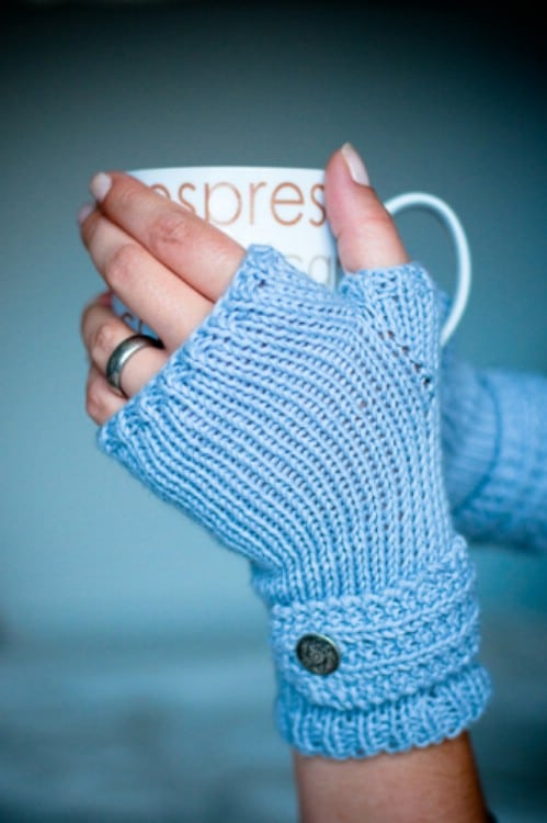 Easy DIY Fingerless Knit Mittens