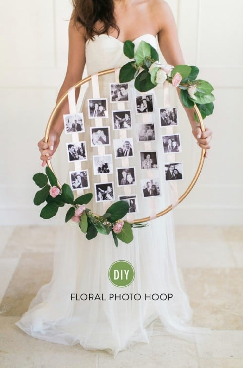 Floral Hoop Photo Board