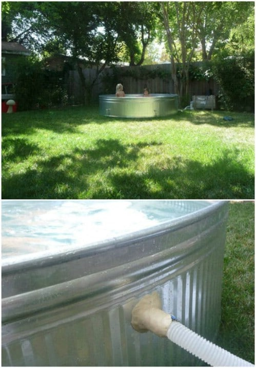 Use a Galvanized Steel Stock Tank