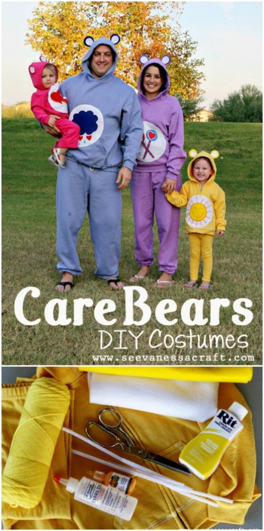 No Sew Care Bears Family Costumes