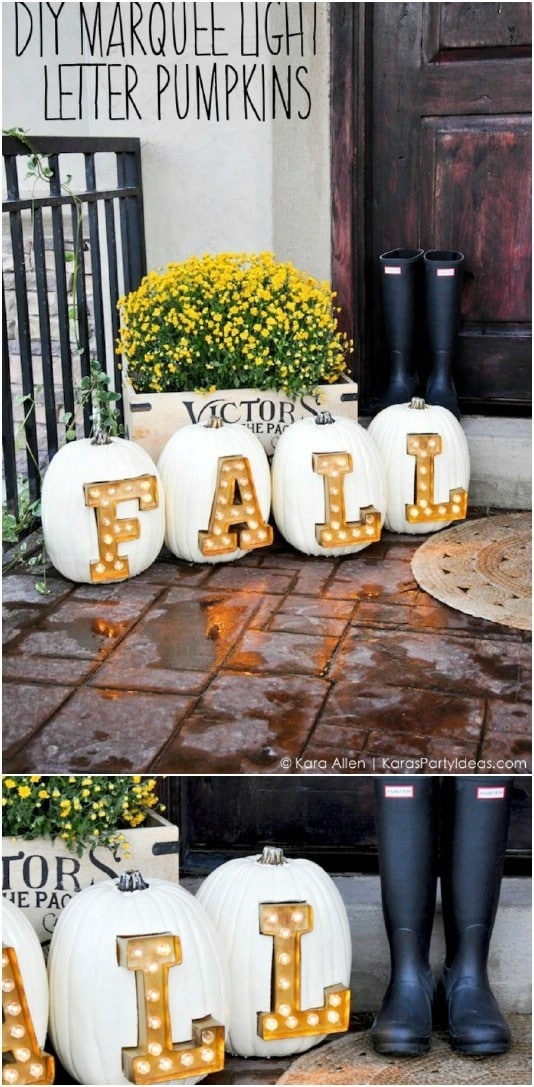 Marquee Light Letter Pumpkins