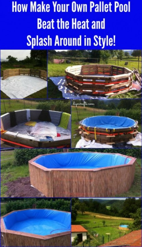 Make a Pool Out of Pallets and a Tarp