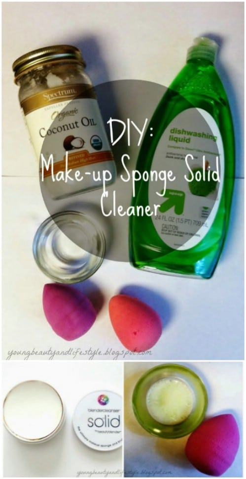 DIY Makeup Sponge Cleaner